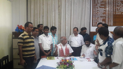 Meeting With Governor of Assam SJT Banwarilal Purohit